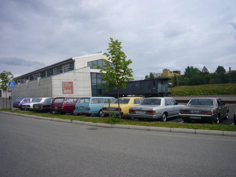 Bilde fra sommertreffet på Sveastranda 2007, tur til jernbanemuséet.